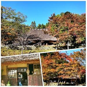 紅葉の「峠の茶屋一軒家」