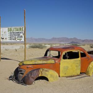 ナミブ砂漠観光の拠点「セスリム」へ向かう