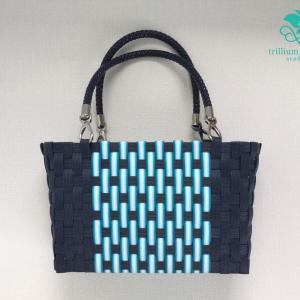 縦編みのバッグ 作りました