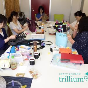 東京の方が増えてきました 紙バンドクラフト講師養成講座東京教室