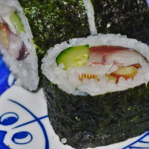 しめ鯖の巻き寿司