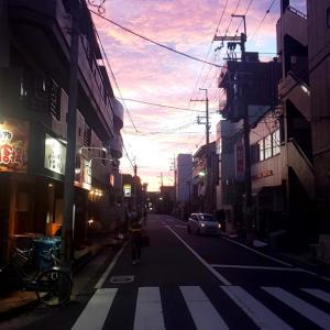 ピンクの夕焼け((o(^∇^)o))