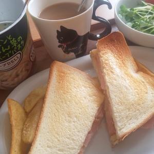 おうちごはん~( =^ω^)パン大好きにゃんこ再び?