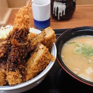 かつや「全部のせソースカツ丼+豚汁(大)」