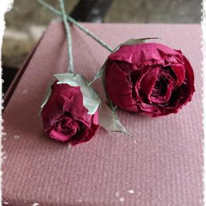★深紅色のバラ〰️‥布花 兵庫県神戸★