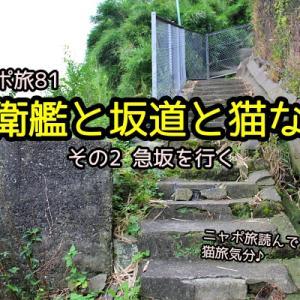 ニャポ旅81 自衛艦と坂道と猫な町 その2 急坂を行く