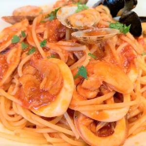 カプリチョーザのペスカトーレ♡トマトとにんにくのスパッゲティー