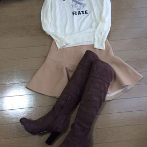 冬のセール品着回し☆フレアスカート