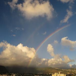 ハワイの「中秋の名月・満月パワー」と「虹パワー」をお届け~ ダブルレインボーでラッキー!
