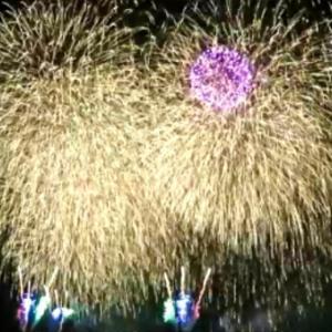 ワイキキビーチで長岡花火スペシャル! 虹とホノルルフェスティバル25周年で・・!!