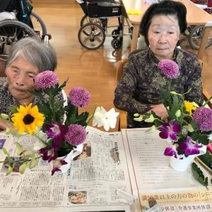 千葉市稲毛区の高齢者施設「アーバンリビング稲毛」さんでフラワーレッスン