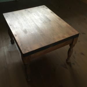 ダイニングテーブルをローテーブルに変身