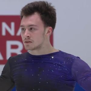 ドミトリー・アリエフ 欧州選手権2020 フリー演技 (解説:英語)