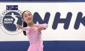 松生理乃 NHK杯2020 ショート演技 (解説:英語)