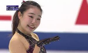 荒木菜那 NHK杯2020 ショート演技 (解説:英語)