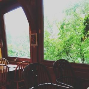 緑に囲まれたシュトラウスカフェ