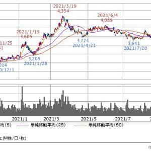 【現在の株式評価額】20210917~リスク回避の売り越し~