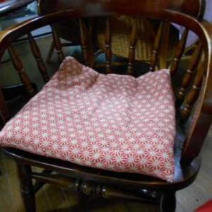 新しい座布団カバー