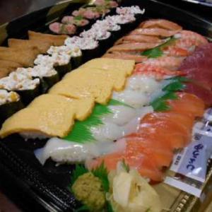 夕食はくら寿司の持ち帰り&秋田県産の桃