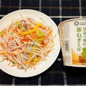 昨日は大盛り大根サラダと豚ねぎそばを食べました。