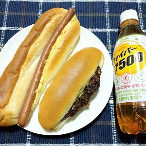 ロングウインナーパンとタルタルフィッシュコッペ