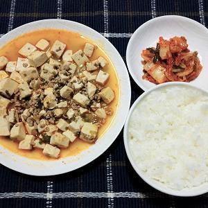 しゃばしゃばのなんちゃって麻婆豆腐を食べました。