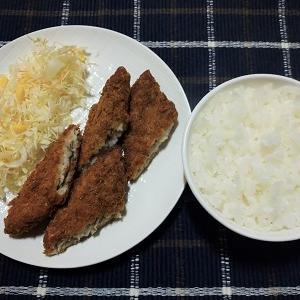 業務スーパーで買った白身魚フライを食べました。