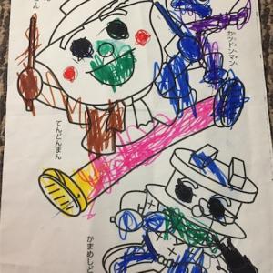 4歳7ヶ月 最近の息子、ぬり絵にはまる。