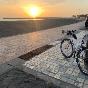 早朝ロードバイク