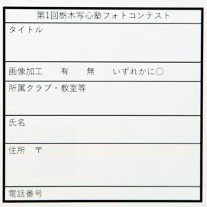第一回栃木写心塾フォトコンテスト