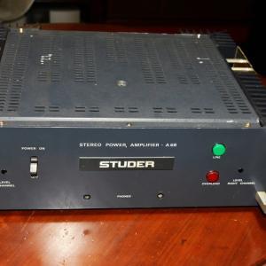 スチューダーA68パワーアンプをお借りして来た