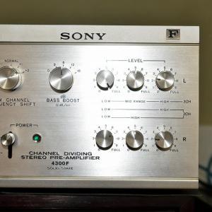 SONY TA-4300Fチャンネルデバイダーを修理に出す