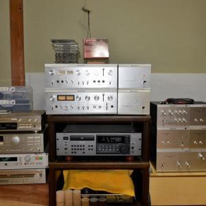 SP-2005の3ウェイマルチアンプシステムを鳴らし始めている