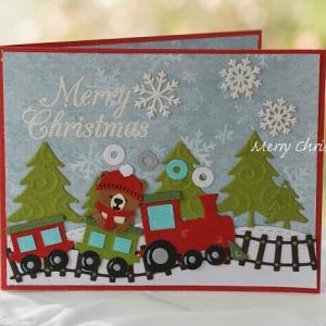 Train Pivot Panels Card ' Merry Christmas '