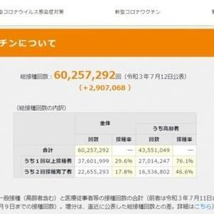 官邸サイト「ワクチン総接種回数約6000万」という不思議な数字