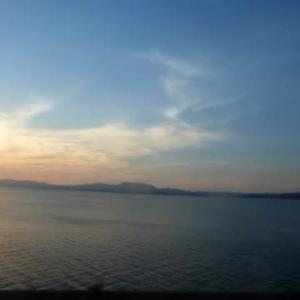 夏の宍道湖…車窓から湖シリーズ