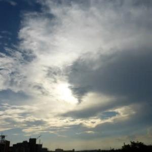 天気が変わる兆し?…多摩川夏景色シリーズ
