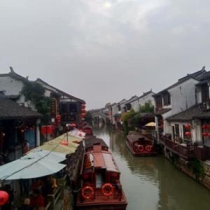 蘇州 虎丘~七里山塘の古運河遊船