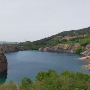蘇州 太陽山(樹山)の翡翠湖