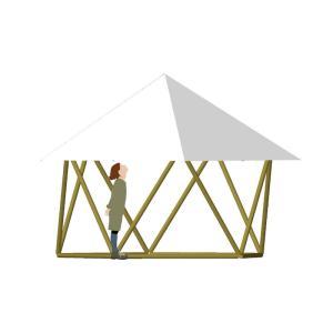 フォレストドームのある風景〜シンプルにテントを見上げてみた
