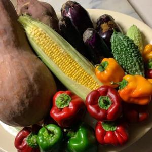 「野菜の到着」