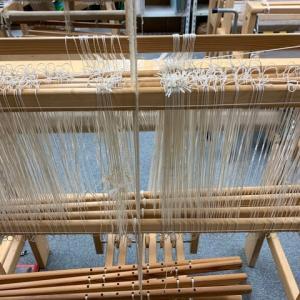 「機織り課題2、ラーヌ織り」