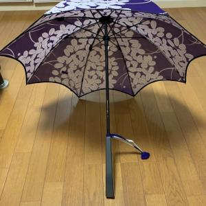 「絽の着物で作る日傘」