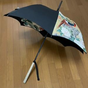 「雉の図柄の日傘」