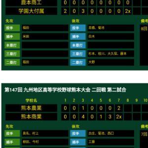 九州地区高校野球熊本大会が始まっています!