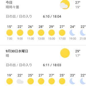 最高温度も30℃を切るようになりました。