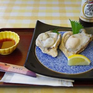 8月23日 笹川流れで、プリップリの岩牡蠣を
