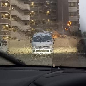突然の大雨