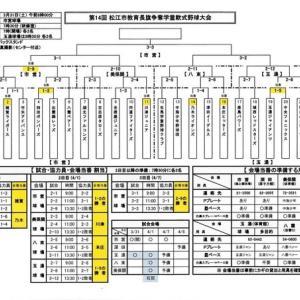 試合予定(松江市教育長旗)