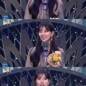 [SBS演技大賞】ぺ・スジ、ミニシリーズ女最優秀賞... 「スタッフに栄光を」